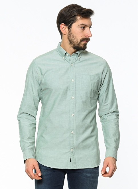 Jack & Jones Uzun Kollu Gömlek Yeşil